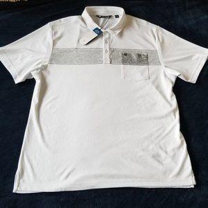 Travis Mathew Men's XL White Polo Shirt Pocket